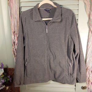 Lands' End fleece full zip-up spring jacket sz Lg